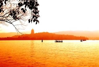 西湖夕阳西照